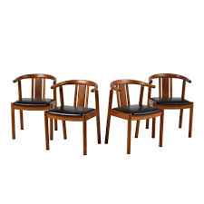 Set Of Four Danish Mid-Century Modern-style Dining Chairs - Castle ... Danish Midcentury Modern Rosewood And Leather Ding Chairs Set Of Scdinavian Ding Chairs Made Wood Rope 1960s 65856 Mid Century Teak Seagrass Style Layer Design Aptdeco 6 X Style Room Chair 98610 Living Room Fniture Replica Wooden And Rattan 2 68007 Pad Lifestyle Herringbone Sven Ding Chair Sophisticated Eight Brge Mogsen In Vintage Market Weber Chair Weberfniturecomau Vintage Danish Modern