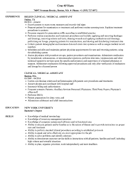 Clinical Medical Assistant Resume Samples | Velvet Jobs 89 Examples Of Rumes For Medical Assistant Resume 10 Description Resume Samples Cover Letter Medical Skills Pleasant How To Write A Assistant With Examples Experienced Support Mplates 2019 Free Summary Riez Sample Rumes Certified Example Inspirational Resumegetcom 50 And Templates Visualcv