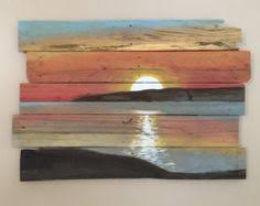 Trees On The Distant Shore By ReClaimedPurposed Etsy