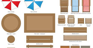 Outdoor Furniture Plan View