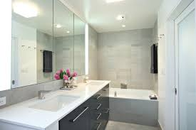 lighted medicine cabinet bathroom modern with accent lights clean