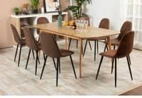 furniturer esszimmerstuehle 4er set kuechenstuehle schoene form bequeme stuehle mit stabilen metallbeinen fuer esszimmer polyester wildleder sitz
