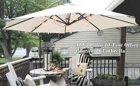Patio Umbrella Offset 10 Hanging Umbrella by Amazon Com Abba Patio 10 Feet Offset Cantilever Umbrella Outdoor