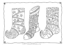 Set Of Christmas Stocking Pictures To Color With A Variety Festive Patterns From Stars