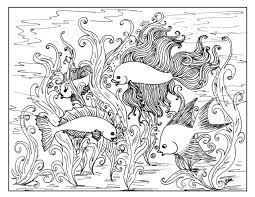 Large Coloring Pages Fish Adults Free Betta Sheets Size