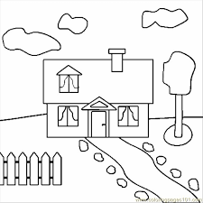Printable Coloring Pages Houses House Architecture Gt Free