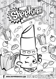 Print Shopkins Lippy Lips Coloring Pages