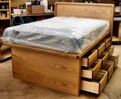 Bedroom Glamorous Full Size Platform Bed With Storage Frame