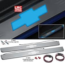 100 91 Chevy Truck Lighted Threshold Plate Set With LED Bowtie The Ultimate