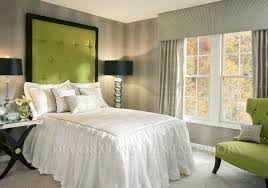 Engaging Image Of Grey And Green Bedroom Design Decoration Ideas Beauteous