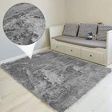 amazinggirl hochflor teppich wohnzimmerteppich langflor teppiche für wohnzimmer flauschig shaggy schlafzimmer bettvorleger outdoor carpet grau