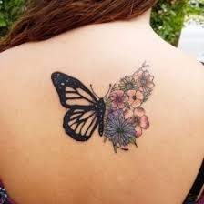 Floral Butterfly Tattoo 8