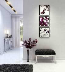 Amazing Design Of The Hallway Decorating Ideas With Grey Wall Added White Floor
