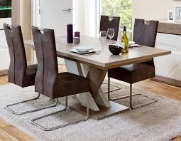 table de salle à manger contemporaine extensible chêne gris blanc