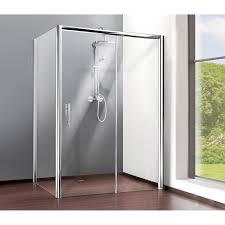 paroi latérale l 90 cm verre transparent 8 mm adena coulissante