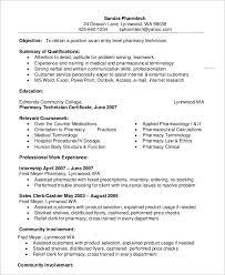 Entry Level Pharmacy Technician Resume Template