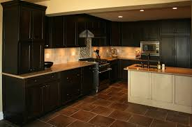 Dark Tile Kitchen Floor Elegant Amazing Kitchens With Cabinets And Floors 6 Lovely