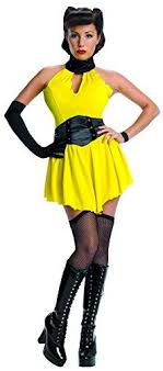 Secret Wishes Womens Warner Brothers Watchmen Adult Sally Jupiter Costume Yellow Black X