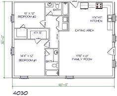 Simple Pole Barn House Floor Plans by Floor Plan For Affordable 1 100 Sf House With 3 Bedrooms And 2