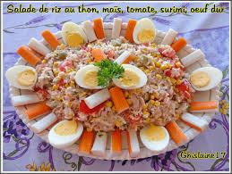 cuisine salade de riz salade de riz au thon maïs tomate surimi oeuf dur ghislaine