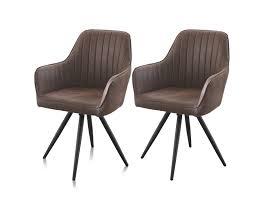 stühle esszimmerstühle 2er set braun