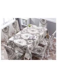 Shop Deals For Less 7-Piece Printed Leaves Design Table Cloth With Dining  Chair Cover White/Grey/Black Online In Dubai, Abu Dhabi And All UAE Us 701 45 Offnew Spandex Stretch Ding Chair Cover Machine Washable Restaurant Wedding Banquet Folding Hotel Zebra Stripped Chairs Covergin Yisun Coverssolid Pu Leather Waterproof And Oilproof Protector Slipcover Black 4 Pack 100 Room Navy Blue And White Unique Bargains Removable Short Slipcovers Nanpiperhome Elegant Elastic Universal Home Decor Searching Perfect Check Search Faux By Surefit Classic Cabana Stripe Long Covers Set Of 2 Ltplaza Modern Seat 4pcsset Damask Operi
