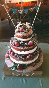Naked Cake For A Barn Wedding