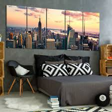 stadt leinwand bild new york horizont brücke wandbilder