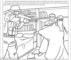 Raid One Of The Colouring Pages Showing A Terrified Bin Laden Cowering Behind