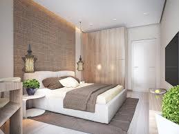 schlafzimmer in weiß und beige helles holz und grober