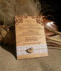 Engraved Personalized Wood Wedding Invitations Laser Cut Rustic Handmade Lace Invite Amazing Unique Vintage