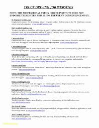 Truck Driver Resume Sample Canada New Truck Driver Resume Format ...