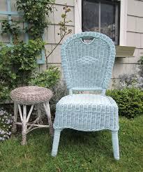 Painted Wicker Garden Chair