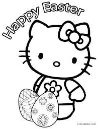 Hello Kitty Easter Eggs Coloring Pages