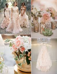 Blush Pink Wedding Dresses And Flower Decoration Ideas