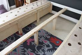 How To Build A King Platform Bed With Drawers by Farmhouse King Size Bed With Storage Pretty Handy