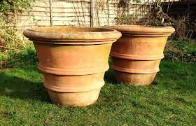 Concrete Fluted Planters Pottery Barn Ceramic Planters