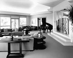 Black Sectional Living Room Ideas by Classic Black And White Room Decor With Black Ceiling To Floor
