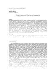 PDF Pragmatics And Cinematic Discourse