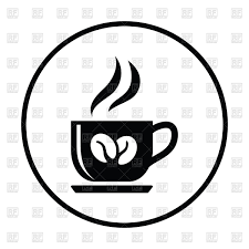 Coffee Cup Icon On White Background Royalty Free Vector Clip Art Rh Rfclipart Com