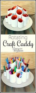 Rotating Craft Caddy DIY Project Step By Tutorial Using PVC Pipes And