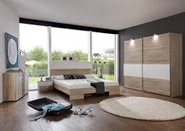 schlafzimmer mit bett 180 x 200 cm eiche sägerau alpinweiss