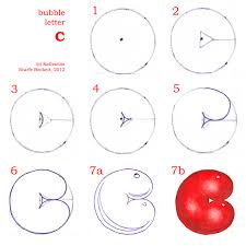 How to Draw Bubble Letters Calligraphy Skills Style