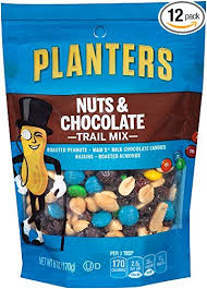 Planters Trail Mix Nuts & Chocolate M&M s 6 Ounce Bag Pack of