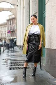 Leather Pencil Skirt High Waisted Pencilk Spring Jacket Skirts And Booties