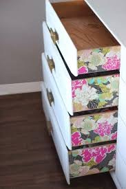 Reineke Paint And Decorating by A Surprise Pop Of Pattern And Color Dresser Diy With Wallpaper
