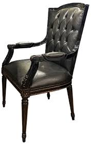 casa padrino luxury baroque dining chair set black 6 genuine leather kitchen chairs with armrests baroque dining room furniture noble