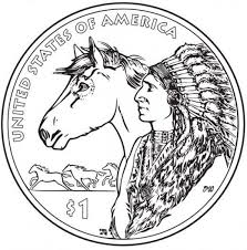 US Mint Quarter Native American Coloring Page