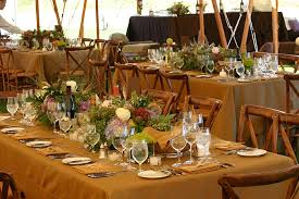 Wedding Decoration Ideas Rustic Country Reception Decorations With Flowers On Long Tables And Wooden