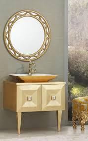 casa padrino luxus barock badezimmer set gold waschtisch mit waschbecken und wandspiegel edel prunkvoll luxus qualität